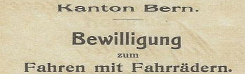 Bikeverbot im Kanton Bern
