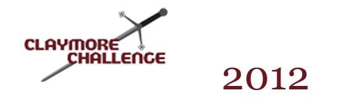 Claymore Challenge 2012